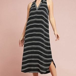 New Anthropologie Striped Collared Shirt Dress by